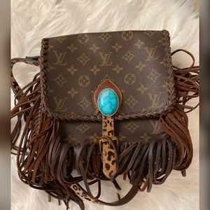 Authentic LV Crossbody Revamped with Fringe